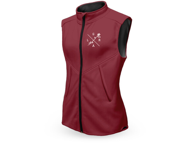 Loose Riders Technical Weste Damen burgundy